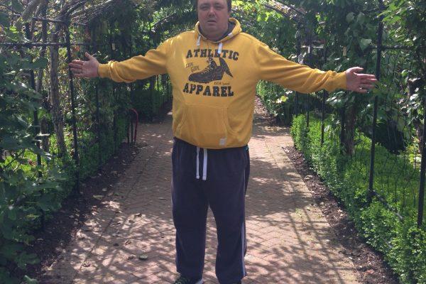 Geoff at Buckfast Abbey